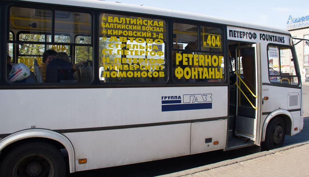 Добраться на маршрутном такси в Петергоф из Санкт-Петербурга